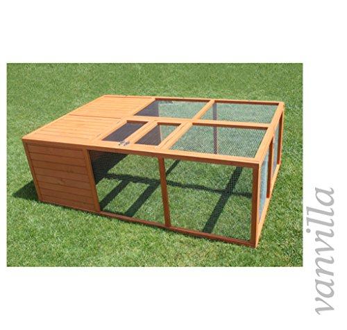 vanvilla hasenstall freilaufgehege faltbar kaninchenauslauf hasenauslauf 180x120cm. Black Bedroom Furniture Sets. Home Design Ideas