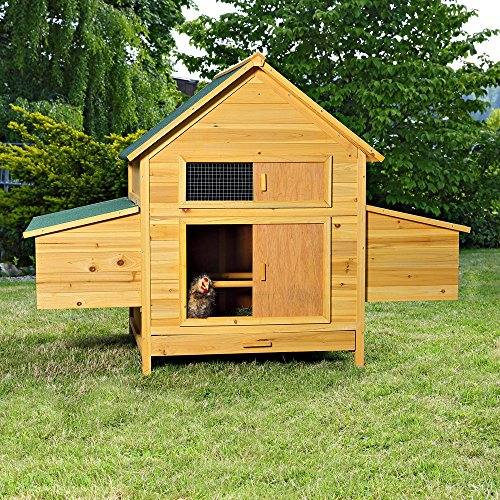 xxl h hnerstall h hnerhaus kaninchenk fig hasenstall kaninchenstall f r drau en. Black Bedroom Furniture Sets. Home Design Ideas